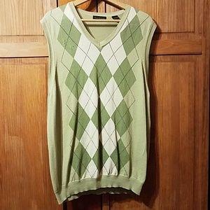 Van Heusen Men's Argyle Sweater Vest Size L